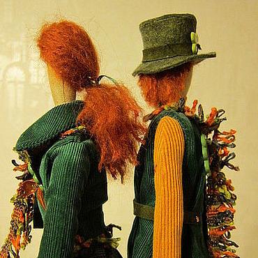 """Куклы и игрушки ручной работы. Ярмарка Мастеров - ручная работа Тильды для влюбленных в Ирландию """"День Святого Патрика"""". Handmade."""