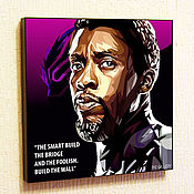 Картины и панно handmade. Livemaster - original item Picture Poster Black Panther-2 (Marvel) in the style of Pop Art. Handmade.
