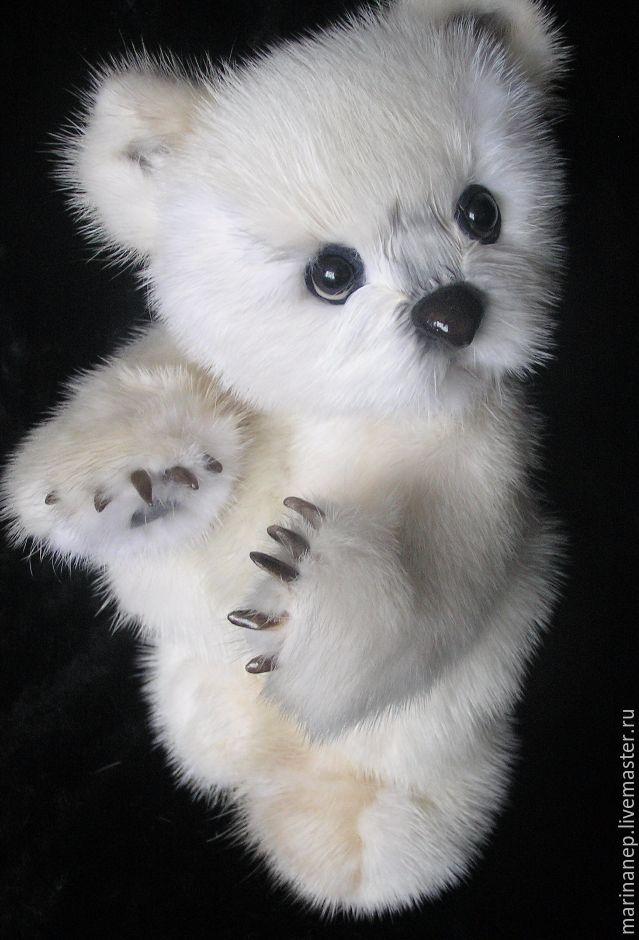 Мишки Тедди ручной работы. Ярмарка Мастеров - ручная работа. Купить PolarBiar из меха белой норки. Handmade. Тедди