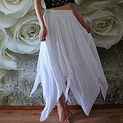 Одежда handmade. Livemaster - original item White summer skirt boho style bohemian White wind. Handmade.