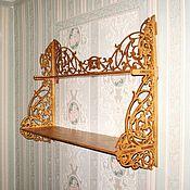 Для дома и интерьера ручной работы. Ярмарка Мастеров - ручная работа Полочка двухъярусная. Handmade.