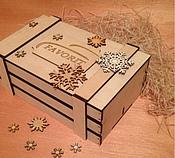 Материалы для творчества ручной работы. Ярмарка Мастеров - ручная работа Реечный ящик для подарков. Handmade.