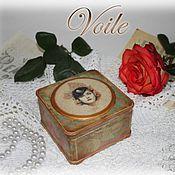 """Для дома и интерьера ручной работы. Ярмарка Мастеров - ручная работа Шкатулка """"Voile"""" (Вуаль). Handmade."""