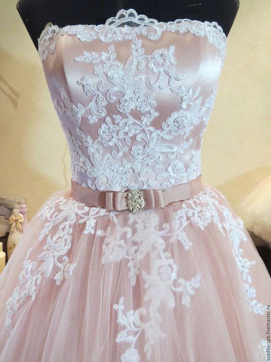 Одежда и аксессуары ручной работы. Ярмарка Мастеров - ручная работа. Купить свадебное платье Пыльная роза. Handmade. Розовый