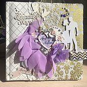 Открытки ручной работы. Ярмарка Мастеров - ручная работа Свадебный альбом на долгую память. Handmade.