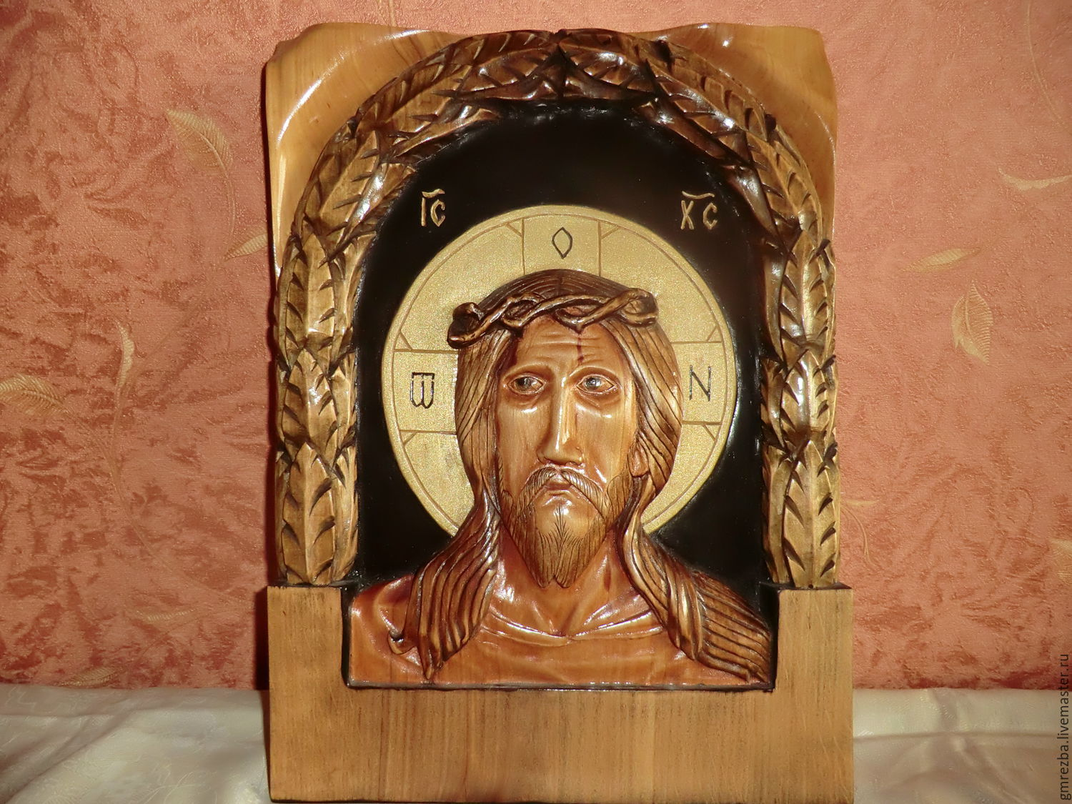 Icon wood Christ wearing the crown of thorns carving, Icons, Moscow,  Фото №1