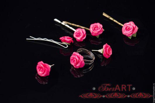 """Комплекты украшений ручной работы. Ярмарка Мастеров - ручная работа. Купить Комплект украшений """" Розовая  нежность"""". Handmade. Розовый"""