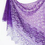 Аксессуары handmade. Livemaster - original item Handknit mohair and silk triangular estonian lace shawl. Haapsalu lace. Handmade.