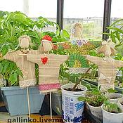 Для дома и интерьера ручной работы. Ярмарка Мастеров - ручная работа Фея огорода маленькое пугало. Handmade.