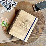 Канцелярские товары ручной работы. Ярмарка Мастеров - ручная работа Скетчбук в деревянной обложке. Handmade.