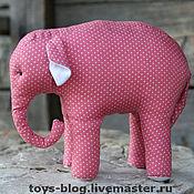 """Куклы и игрушки ручной работы. Ярмарка Мастеров - ручная работа мягкая игрушка """"Розовый слон"""". Handmade."""