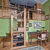 Для дома и интерьера ручной работы. Ярмарка Мастеров - ручная работа мебель дубовая (лестница, кабинет, двери). Handmade.