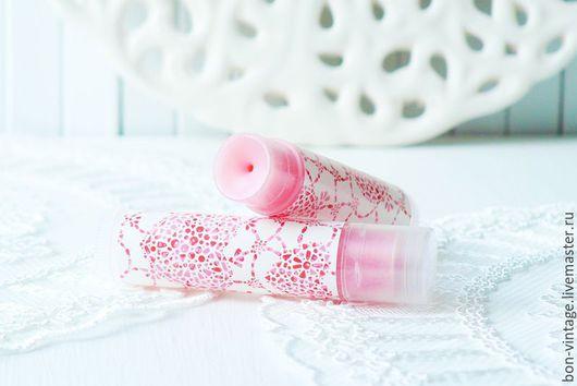 Бальзам для губ ручной работы. Ярмарка Мастеров - ручная работа. Купить Клубника - мультибальзам. Handmade. Розовый, сливки, бальзам для ногтей