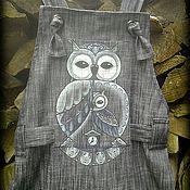 Одежда ручной работы. Ярмарка Мастеров - ручная работа Комбинезон джинсовый.  ЧУДЬ. Handmade.