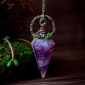 Украшения handmade. Livemaster - original item Pendant pendulum with amethyst.#4 a Series of