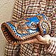 Leather wallet 'Favorite flower' - blue. Wallets. schwanzchen. My Livemaster. Фото №4