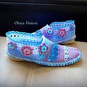 Обувь ручной работы handmade. Livemaster - original item Knitted booties 38размер. Handmade.
