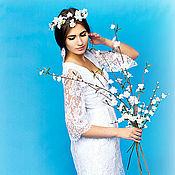 Одежда ручной работы. Ярмарка Мастеров - ручная работа белое кружевное платье. Handmade.