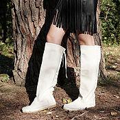 Обувь ручной работы handmade. Livemaster - original item Boots: White Pony leather / Euro Winter / Pony winter boots. Handmade.