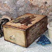 """Подарки к праздникам ручной работы. Ярмарка Мастеров - ручная работа """"Рождество"""" короб. Handmade."""