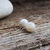 Украшения handmade. Livemaster - original item Silver earrings with moon stones