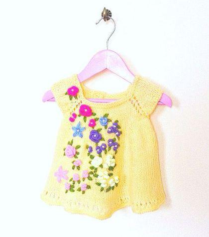 Одежда для девочек, ручной работы. Ярмарка Мастеров - ручная работа. Купить Вязаный детский сарафан. Handmade. Желтый, вязаный сарафан