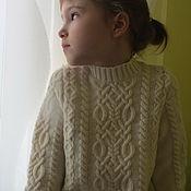 Работы для детей, ручной работы. Ярмарка Мастеров - ручная работа Белый кашемировый свитер для девочки. Handmade.