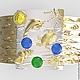 """Кольца ручной работы. Кольцо """"Дайвинг"""" Золото 585 жёлтое и белое, сапфиры. Ювелирная лаборатория 'Альтер Эго'. Интернет-магазин Ярмарка Мастеров."""