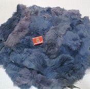 Материалы для творчества handmade. Livemaster - original item Rabbit fur gray-blue (flap) 650 gr.. Handmade.