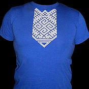 Русский стиль handmade. Livemaster - original item T-shirt with embroidery Veles. Handmade.