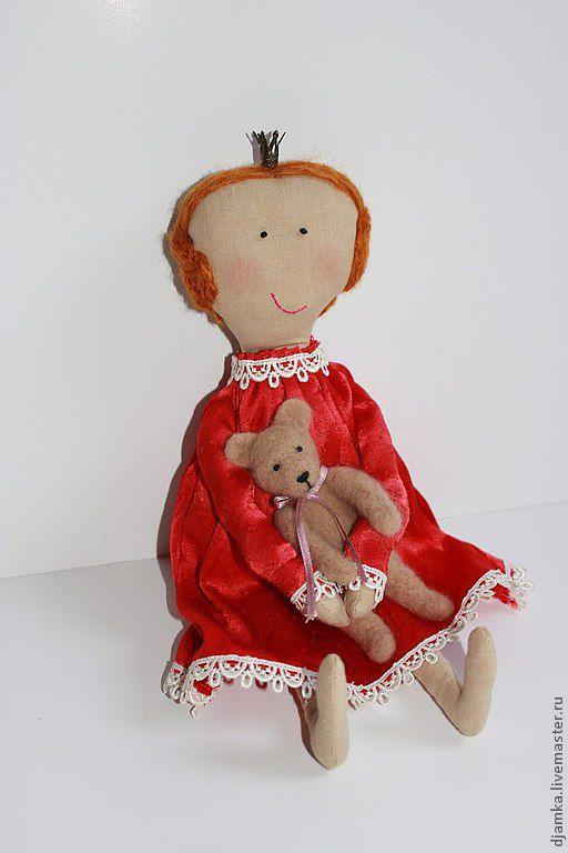 Куклы Тильды ручной работы. Ярмарка Мастеров - ручная работа. Купить Принцесса Анна. Handmade. Ярко-красный, атласное платье