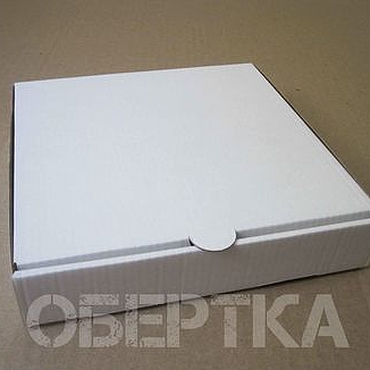 Материалы для творчества ручной работы. Ярмарка Мастеров - ручная работа Коробка 16х16х3 см микрогофрокартон, белая/бурая. Handmade.