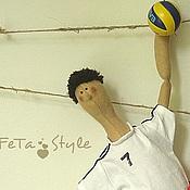 Куклы и игрушки ручной работы. Ярмарка Мастеров - ручная работа Кукла Тильда Волейболист. Handmade.