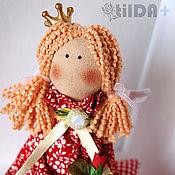 Куклы и игрушки ручной работы. Ярмарка Мастеров - ручная работа Малышка в красном (маленькая принцесса тильда). Handmade.