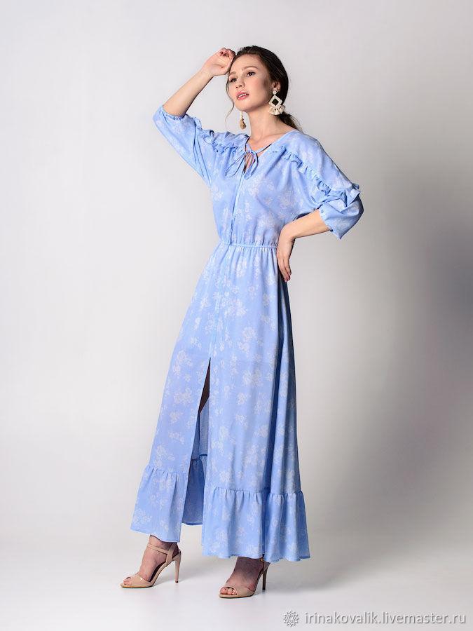 Голубое платье в стиле прованс, Платья, Харьков,  Фото №1