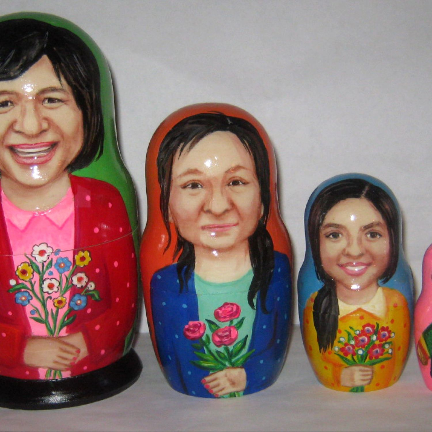 Custom nesting doll Portrait matryoshka 4 pieces, Dolls1, Fryazino,  Фото №1