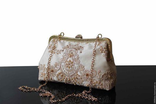 Женские сумки ручной работы. Ярмарка Мастеров - ручная работа. Купить Вечерняя сумочка, свадебная сумочка, сумочка для невесты, сумочка. Handmade.