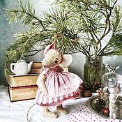 Куклы и игрушки handmade. Livemaster - original item Mrs. mouse, mouse, rat Teddy. Handmade.