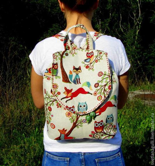 Рюкзаки ручной работы. Ярмарка Мастеров - ручная работа. Купить Гобеленовый рюкзак ЛЕСНЫЕ СКАЗКИ. Handmade. Рюкзак, гобеленовый рюкзак