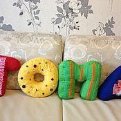 Подарки к праздникам ручной работы. Ярмарка Мастеров - ручная работа Мягкие подушки-буквы. Handmade.