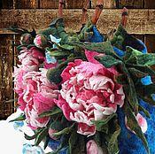 Сумки и аксессуары ручной работы. Ярмарка Мастеров - ручная работа Сумка валяная большая Пионы. Handmade.