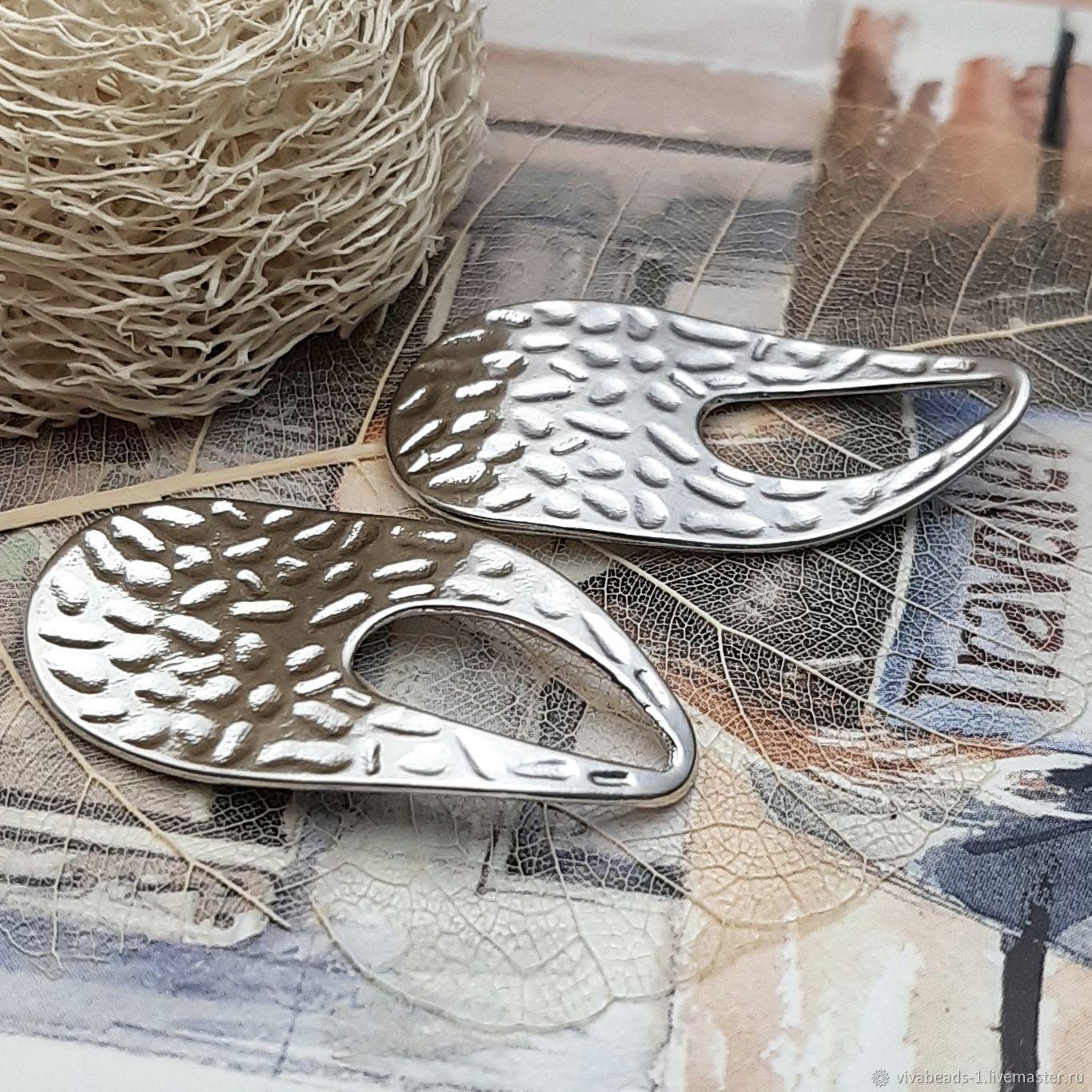 Pendant wavy 34h18 mm platinum (3579), Pendants, Voronezh,  Фото №1
