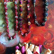 Украшения ручной работы. Ярмарка Мастеров - ручная работа Бусы из бархата и черного жемчуга. Handmade.
