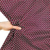 handmade. Livemaster - original item Fabric: Cotton plaid burgundy geometry. Handmade.