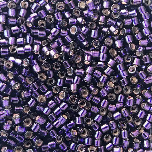 Для украшений ручной работы. Ярмарка Мастеров - ручная работа. Купить 10 ГР MIYUKI DELICA 11/0 DB609 silver-lined dark purple. Handmade.