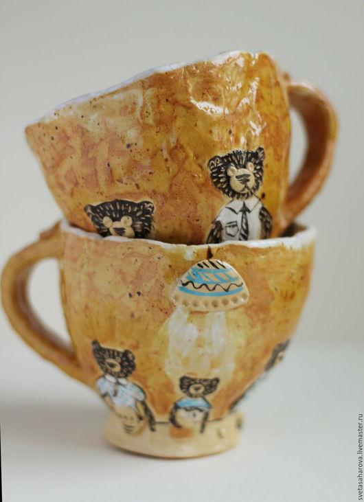 """Кружки и чашки ручной работы. Ярмарка Мастеров - ручная работа. Купить кружка """"Ужин"""". Handmade. Бежевый, посуда, чашка для чая"""