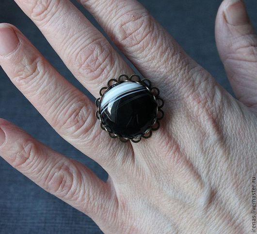 Кольца ручной работы. Ярмарка Мастеров - ручная работа. Купить Кольцо с агатом. Handmade. Кольцо, крупное кольцо, агат