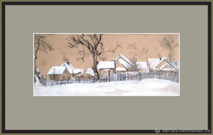 Винтаж: Зима. Рисунок, Предметы интерьера винтажные, Москва,  Фото №1