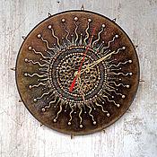Для дома и интерьера ручной работы. Ярмарка Мастеров - ручная работа Настенные часы Солярис. Handmade.