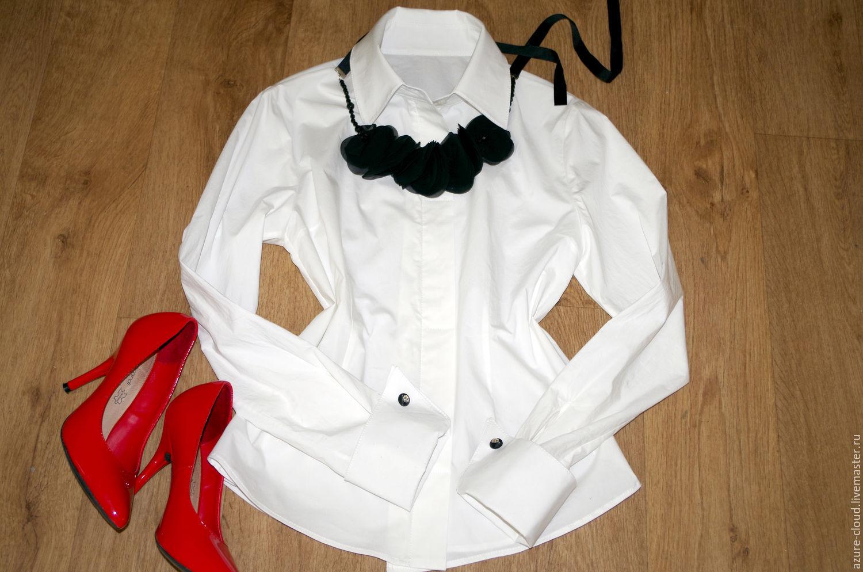 Рубашка с манжетами на запонках, Блузки, Тольятти, Фото №1
